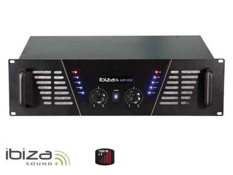 Amplifier IBIZA 2x1500W AMP2000 black