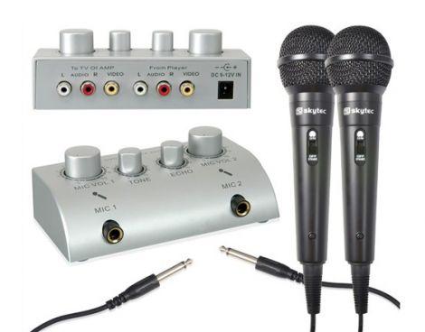 Karaoke set με 2 μικρόφωνα SKYTEC