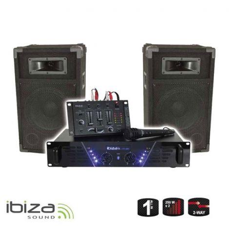DJ PA set Ibiza DJ300 - amplifier, mix, speakers