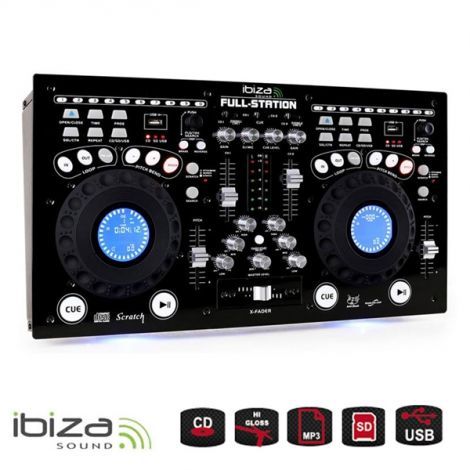 Mixing Table IBIZA FULL-STATION for DJ CD/USB/SD