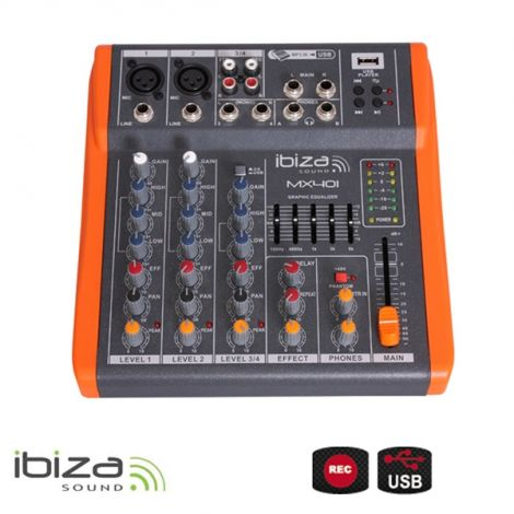 IBIZA MX401 Four Channel Mixer