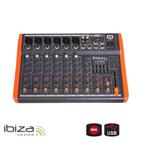 COMPACT-SIZED 8-CHANNEL MUSIC MIXER MX801