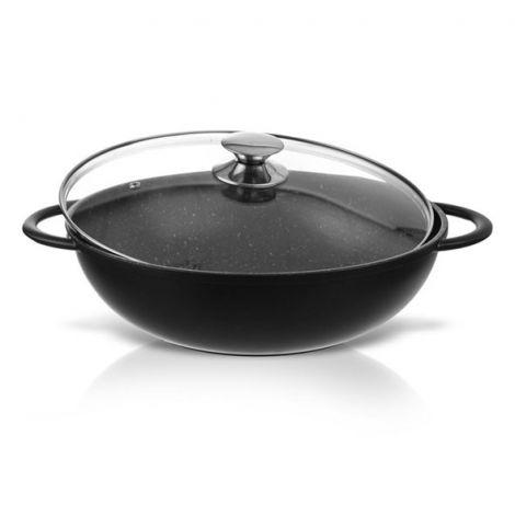 WOK ORION GRANDE Pan with lid 32 cm (Black)