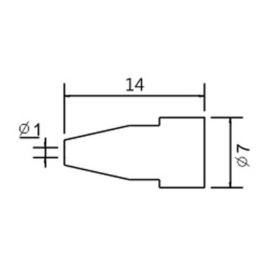 Soldering iron tip N5-6/ZD553 avg.1.0mm (ZD-8915)