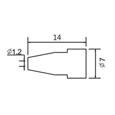 Soldering iron tip N5-7/ZD553 avg.1.2mm (ZD-8915)