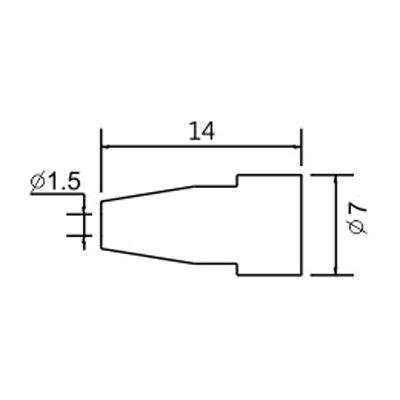 Soldering iron tip N5-8/ZD553 avg.1.5mm (ZD-8915)