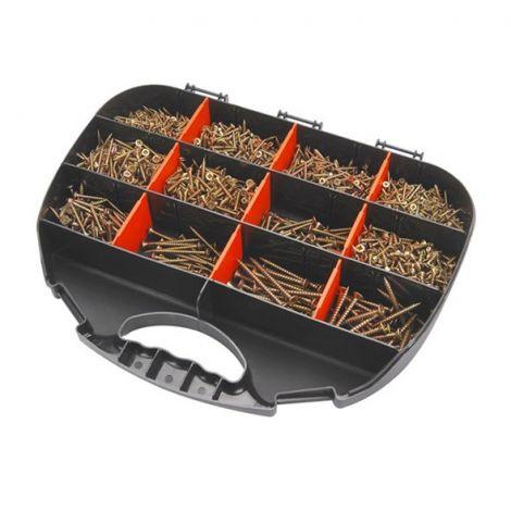 Wood screws 12 dimensions, set 2000pcs, EXTOL CRAFT