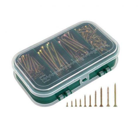 Wood screws 9 dimensions, set 310pcs, EXTOL CRAFT