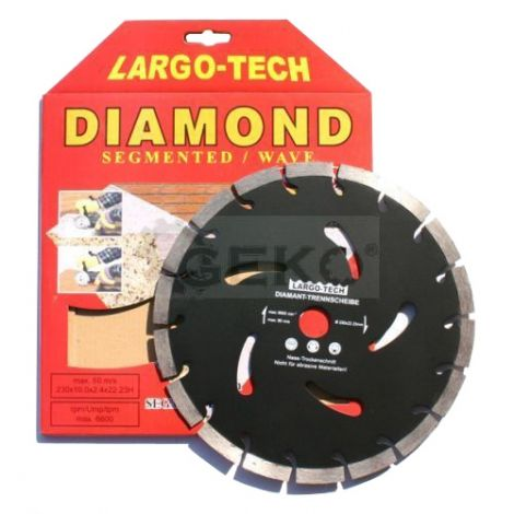 Diamond cutting disc, segment, 230x22,2x10mm, GEKO