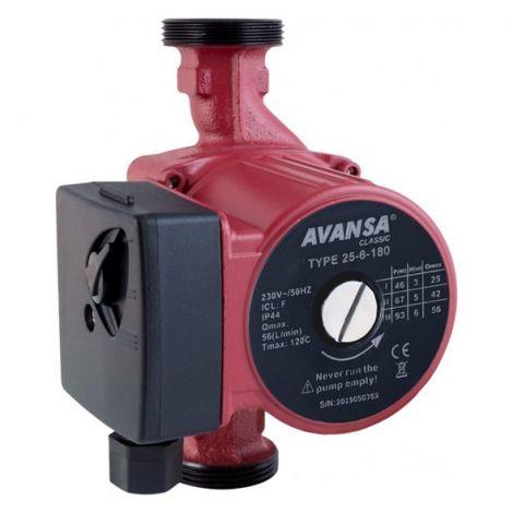 AVANSA circulating pump (25/6/180) Red