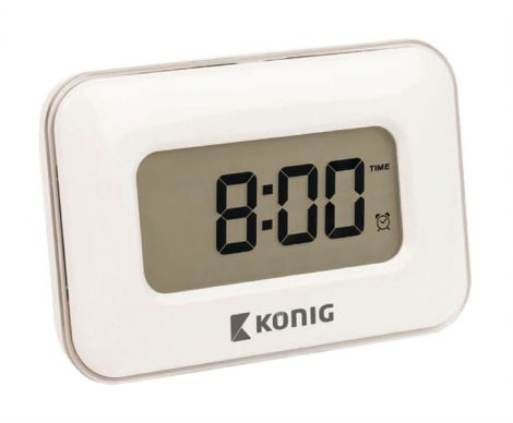 KÖNIG alarm clock with touch display (KN-AC10) white