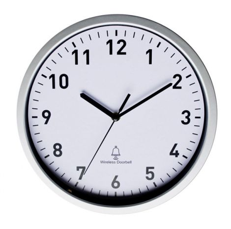 Radio Wall clock EuroTime 51202 30 cm x 5 cm Silver