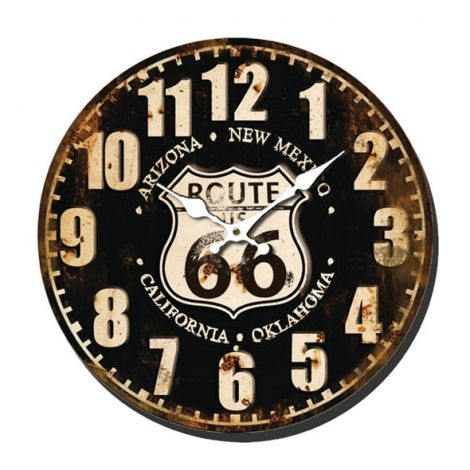Analog clock BALANCE ROUTE 66 40 cm