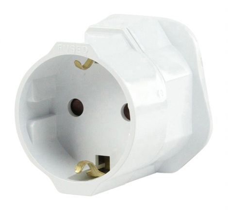 HQ EL-TRAVEL01 Travel adapter from EU to UK (white)