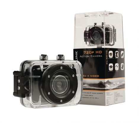 """Camera action HD 720p, LCD 2"""", waterproof 10m CAMLINK CL-AC10"""