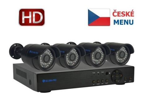 Camera set SECURIA PRO NVR4CHV2 1080P 4CH DVR + 4x IR CAM digital