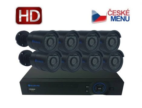 Camera set SECURIA PRO NVR8CHV2 1080P 8CH DVR + 8x IR CAM digital