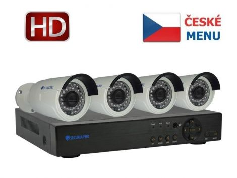 Camera set SECURIA PRO NVR4CHV2-W 1080P 4CH DVR + 4x IR CAM digital