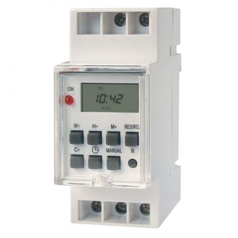 Timer socket for DIN 7days, digital