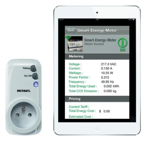 Energy consumption meter set VOLTCRAFT SEM-3600BT-FR Bluetooth interface, GUI, Inter