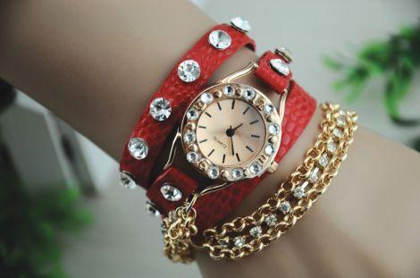 Wristwatch SPARKLING red