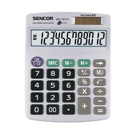 Kalkulátor stolní SENCOR SEC 367/12 DUAL