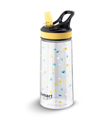 Water bottle LAMART LT4035 500ml STRAW with straw yellow