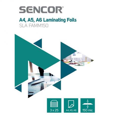 Laminating foil SLA FAMM150 A456 150mic 3x25