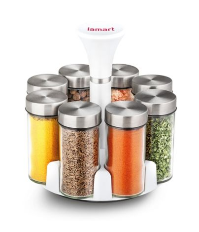 LAMART Spice Jar Set 8-Piece Erba (LT7017)