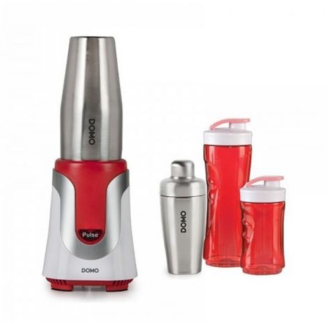 Mixer DOMO DO449BL Table Smoothie - red + cocktail shaker