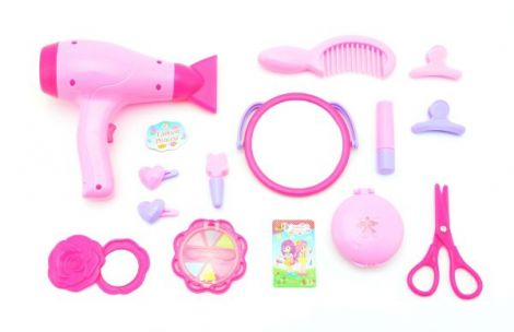 Set cosmetic child with hairdryer 15pcs