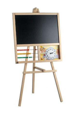 Board rack with abacus 45 x 89 cm wood