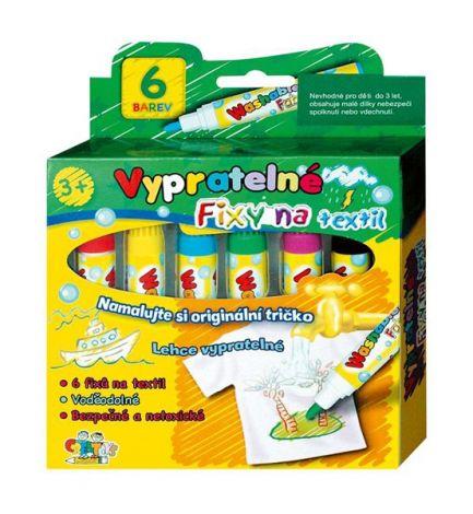 Markers on textiles washable 6pcs