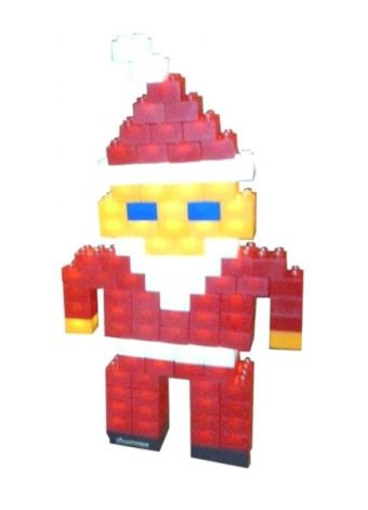 Kits LIGHT STAX SHOW CASE SANTA CLAUS compatible DUPLO