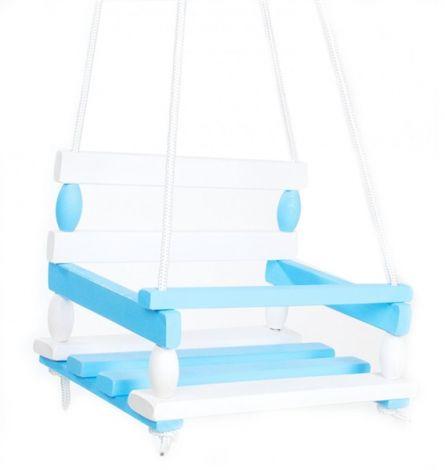 Swing TEDDIES wood BLUE
