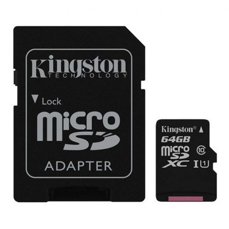 Memory Card KINGSTON MICRO SDHC 64GB CLASS 10 + adapter SDCS/64GB