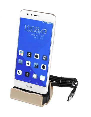 Docking Charger MICRO USB Gold