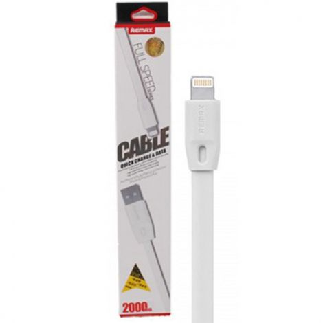 Remax Kαλώδιο Δεδομένων USB σε iPhone 2m Λευκό (14348)