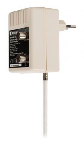 Amplifier TV signal indoor 10 dB, 2 outputs KÖNIG KN-AMP-PLUG