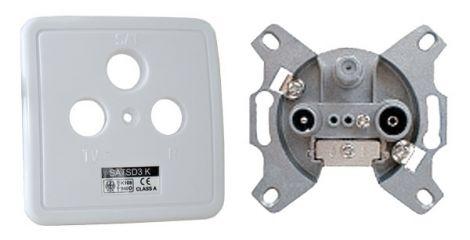 Coax wall socket  SATSD3.uk