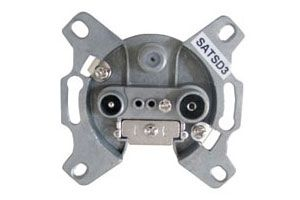 Coax wall outlet socket  SATSD3P