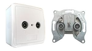 Outlet wall socket BKDD2k 3dB (continuous)