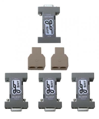 Cable splitter for satellite receiver GoSat - 1xServer - 3xClient