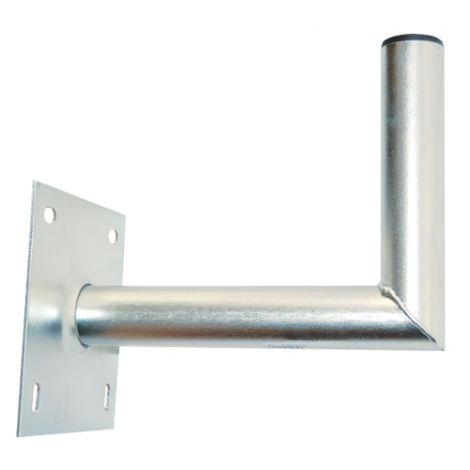 Bracket 25 cm with base  16x16 diameter  42 mm  Hot dip galvanized
