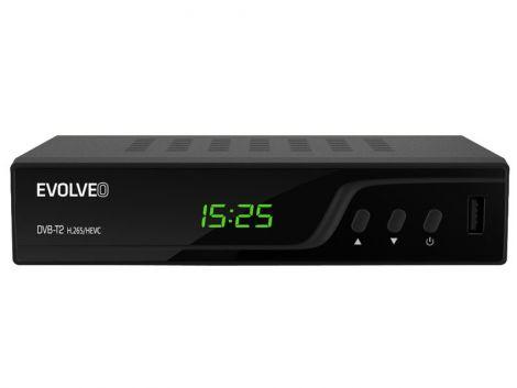 Terrestrial Receiver Evolveo DT-3060-T2-HEVC Omega T2 HD DVB-T2 H265 / HEVC