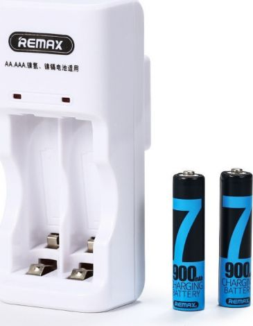 Remax RT-DC02 Rechargeable battery charger +2xAAA Batteries Pack, White - 14816