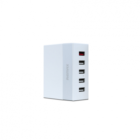 Network charger, Remax RU-U1,5V 5.2A, 5xUSB, without cable, White  - 14823