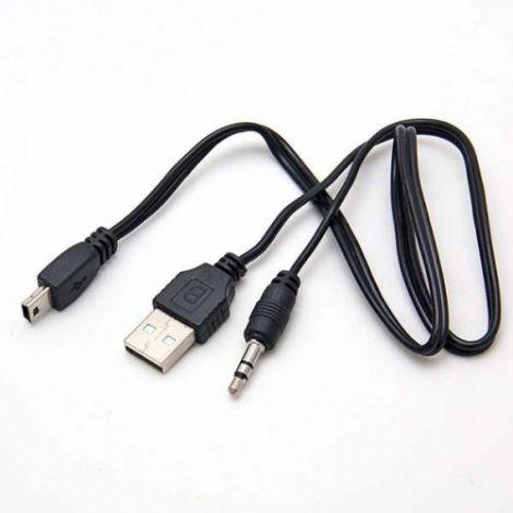 Cantell Cable USB σε 3.5 Audio Jack και Mini USB (18213)