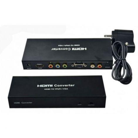 Αντάπτορας HDMI Είσοδος σε VGA και YPBPR έξοδο (18262)