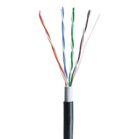 Cable OUTDOOR CAT5e UTP Black per meter (18408)